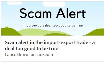 Import export scam